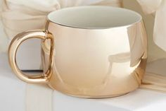 Starbucks City Mug Gold Electroplate Mug, 14 fl oz