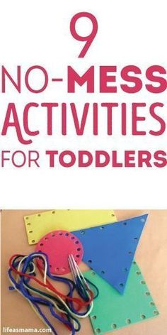 9 No-Mess Activities For Toddlers