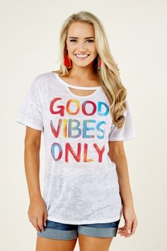 Shop for women's tees that are cute and comfy, only at Red Dress Boutique! Choose your favorite brands and order the coolest tees for women, at a discount price! White Sheer Top, White Tops, Tees For Women, Good Vibes Only, Cool Tees, Tee Shirts, My Style, Modeling, Outfit Ideas