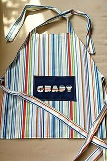 I always see adorable aprons for girls, but not for boys!  Love this! My son LOVES to cook with me!