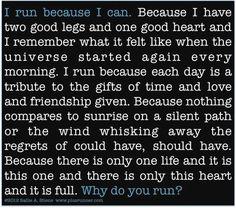Why do you run? #runchat
