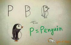 P = penguin