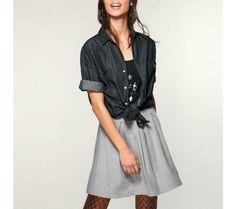 Skládaná sukně s pružným pasem | modino.cz  #modino_cz #modino_style #style #fashion #newseason #autumn #fall