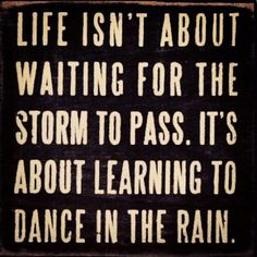 And living In Portland - you learn to dance a lot!   Lol