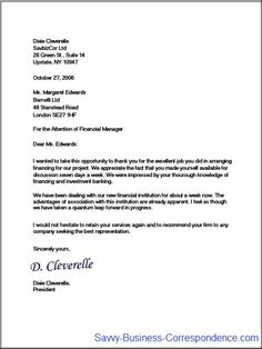 Multiple page business letter, second page with properly formatted ...