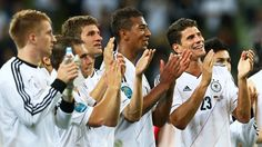 Germany players applauding their fans after the victory against greece :)UEFA EURO - Germany – UEFA.com#1834831|2