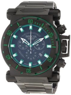 Men's Wrist Watches - Invicta Mens 10036 Coalition Forces Chronograph Black Dial Watch ** You can find more details by visiting the image link.