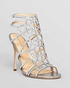 Sergio Rossi Open Toe Evening Sandals - Puzzle Sparkle High Heel Shoes - All Shoes - Bloomingdale's Magic Shoes, Sergio Rossi Shoes, Bridal Sandals, Evening Sandals, Wedding Heels, Bride Shoes, Pretty Shoes, Me Too Shoes, Open Toe
