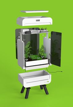 An intelligent twist in a trend of urban microclimate gardens, the SmartGreenHouse helps users exercise their green thumb with almost any type of plant, herb, flower,