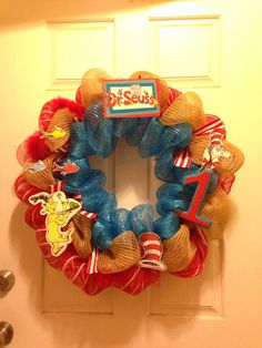 Dr Seuss Wreath