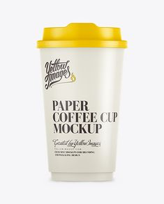 16oz Single Wall Paper Coffee Cup Mockup. Preview