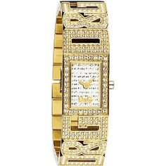 D Dolce & Gabbana Women's DW0287  'Shout' Stainless Steel Gold-Colored IP Bracelet With Stones Watch D Dolce & Gabbana. $275.00. White dial. Japanese-Quartz movement. Water-resistant to 99 feet (30 M). Scratch-resistant mineral crystal. Stainless steel case; Leather strap