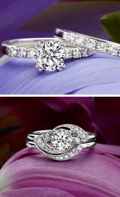 These retro inspired engagement rings are gorgeous!