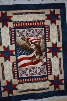 Patriotic Quilt using Eagle Panel