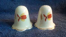 Autumn Leaf Jewel Tea Co Hall's Superior Quality Salt & Pepper Shakers Casper #AutumnLeaf