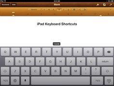 iPad Tips - Keyboard Shortcuts ~