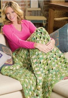 Big Granny Throw - Free Crochet Throw Pattern