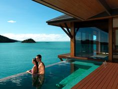 Hamilton Island, Australia This luxurious Barrier Reef resort features private pavilions complete with plunge pools, and the option to dine on the deck while watching the sunset. If that's not romantic enough for you, take a helicopter ride over Whitehaven Beach, one of the loveliest stretches of sand in the world. Or choose qualia's Island Interlude package, which lets guests indulge in champagne, a gourmet picnic, and a sunset cruise that seems tailored for proposals.