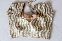 Gold Sequence Blouse by NikharTheElegance on Etsy, $60.00