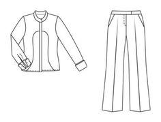 Брюки - выкройка № 103 B из журнала 7/2004 Burda – выкройки брюк на Burdastyle.ru