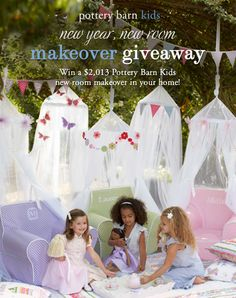 Start the new year with a $2,013 Pottery Barn Kids room makeover in your home! Click on this image to enter via Facebook or copy and paste the following link in your browser: on.fb.me/RERrIT