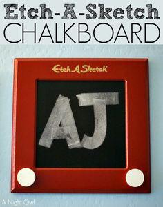 DIY Etch-A-Sketch Chalkboard