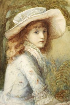"Blanche F. MacArthur (British, 1870 - 1896), ""Portrait of a Girl"""