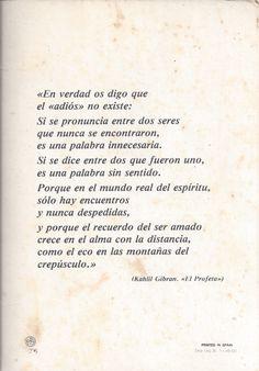 Khalil Gibran - El Adiós                                                       …