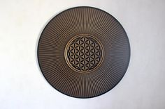 string art FLOWER OF LIFE Gold sacred geometry psychedelic