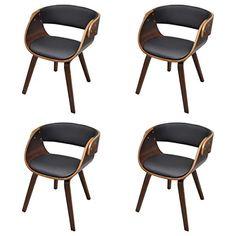 387 4 x esszimmer stuhl sthle sessel esszimmersthle holzrahmen braun vidaxl httpwww - Designer Stuhl Esszimmer
