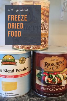 Not sure what you think about freeze dried food? Before you go diving in feet first into Thrive foods. or any other brand, read these 5 things first. Emergency Preparedness Plan, Emergency Food Storage, Emergency Food Supply, Disaster Preparedness, Food Tips, Food Hacks, A Food, Food And Drink, Food Storage Shelves