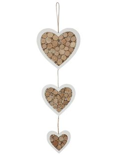 M&Co. Homeware Triple Hanging Heart Decoration Back To University, Hanging Hearts, Heart Decorations, Cotton Bedding, Girl Room, Rooms, Natural, Girls, Polyvore