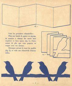 Kirigami birds