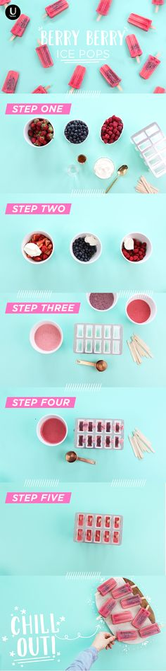 with just a few ingredients you can whip up these healthy and frosty ice pops