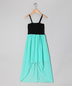 Take a look at this Mint Pucker Hi-Low Dress by Cheryl's Kids Creations on #zulily today!
