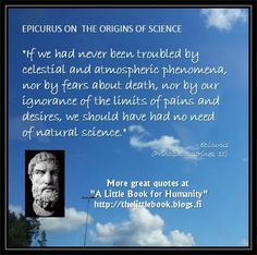 Epicurus on science