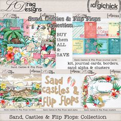 Sand, Castles & Flip Flops: Collection by LDrag Designs