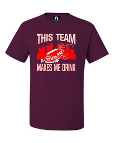 Youth This Team Makes Me Drink Funny Football Tampa Bay T-Shirt