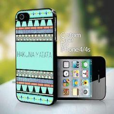 10742 Hakuna Matata design for iPhone 4 or 4s case