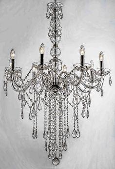 . D Lighting, Crystal Chandelier Lighting, Luxury Chandelier, Diy Chandelier, Unique Lighting, Interior Lighting, Oil Lamps, Lamp Shades, Hanging Lights