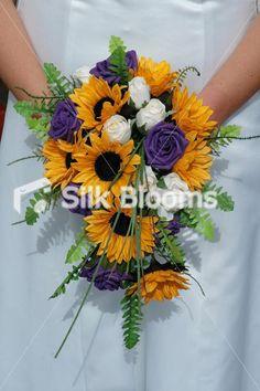 Sunflower Wedding Bouquets With Blue   ... blue and purple wedding wedding band on table dark blue light blue pu