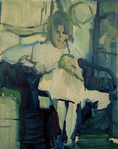 Alice Neel and Isabetta 16 x 20 oil/panel 2017