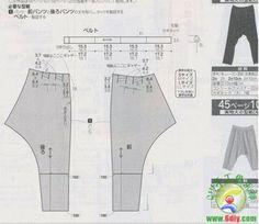 pantalones de harén, pantalones, Camisas, faldas y Otras prendas de sastrería Figura