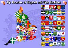 The Counties of England, their flags & emblems | by The_Virgo