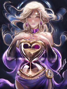 Hour Glass Goddess speedpaint by sakimichan.deviantart.com on @DeviantArt