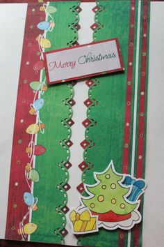Primary Christmas paper and stickers.  Title is from the expressions of the holidays vellum pack from CM