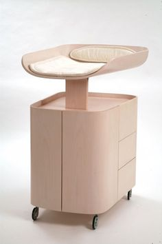 Space Saving  Wall Mounted Baby Changing Table is a baby furniture from Bybo. These chang­ing tables are the work of Swedish designer Bo Ekström and are not for the budget-conscious. Accord­ing to DaddyTypes.com, the fold-up chang­ing table is...