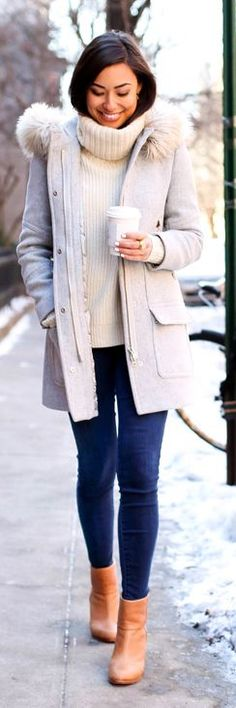 Gray Hooded Coat by With Love From Kat