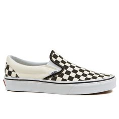 The original checkerboard Slip On from Vans Shoes is a classic icon for skate shoes. The black and white check mens Slip On is good for all occassions too,like that work meeting that's looming over yo