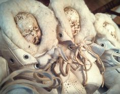 Babe in a Vintage Baby Shoe...ornament from the Deryn Mentock Christmas Ornament Swap 2013